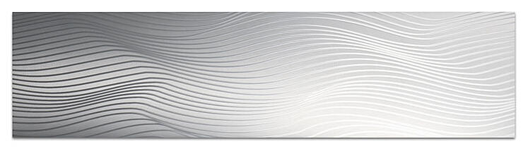 Flowing linear pattern on aluminum trim PAT-3617-A