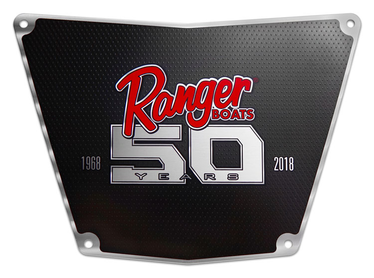 Ranger Boats 50th Anniversary Milled Aluminum Plaque