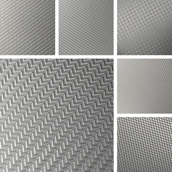 Geometric patterns on aluminum surfaces