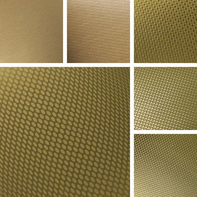 Gold Textures on Aluminum Surface Collection