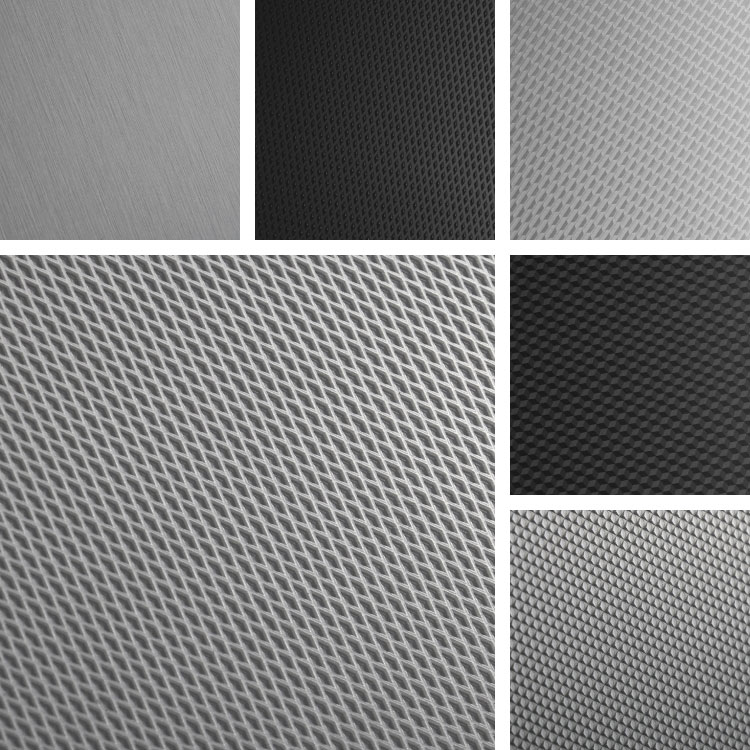 Fractal Surface Collection | Aluminum patterns with geometric diamond shapes