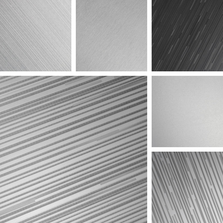 Interference | Aluminum Surfaces decorated with broken lines